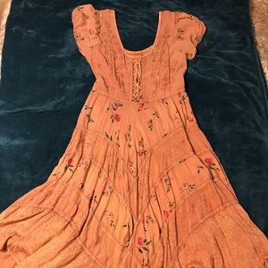 Sakkas tea-length peasant dress